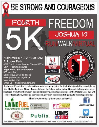 Joshua 1:9 Freedom 5K Flyer